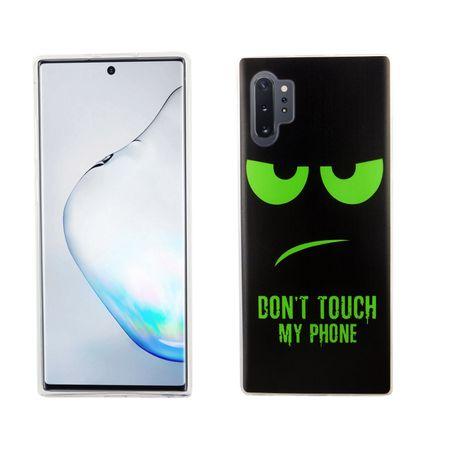 Samsung Galaxy Note 10 Plus Handy-Hülle Schutz-Case Cover Bumper Dont Touch My Phone Grün
