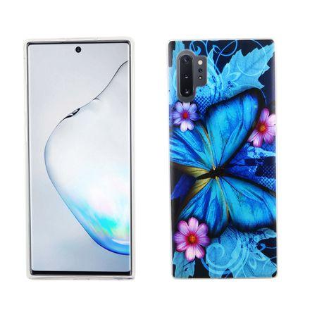 Samsung Galaxy Note 10 Plus Handy-Hülle Schutz-Case Cover Bumper Schmetterling Blau