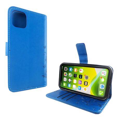 Apple iPhone 11 Handy-Hülle Schutz-Tasche Cover Flip-Case Kartenfach Blau – Bild 2