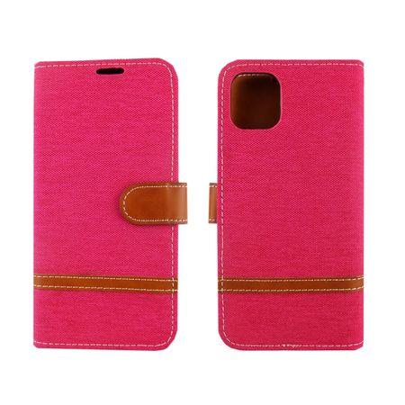 Apple iPhone 11 Handy-Hülle Schutz-Tasche Case Cover Kartenfach Etui Wallet Pink – Bild 3