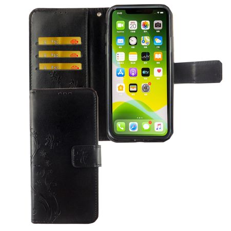 Apple iPhone 11 Pro Handy-Hülle Schutz-Tasche Cover Flip-Case Kartenfach Schwarz