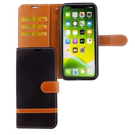Apple iPhone 11 Pro Handy-Hülle Schutz-Tasche Case Cover Kartenfach Etuis Schwarz