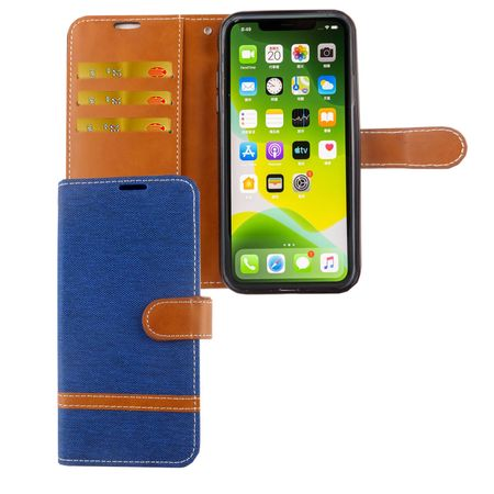 Apple iPhone 11 Pro Handy-Hülle Schutz-Tasche Case Cover Kartenfach Etui Wallet Blau