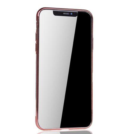 Handyhülle für Apple iPhone 11 Rose Pink - Clear - TPU Silikon Case Backcover Schutzhülle in Transparent / glänzender Rand Rose Pink – Bild 3