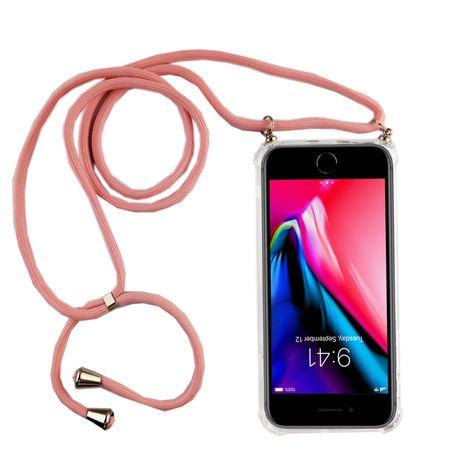 Handykette für Apple iPhone 7 Plus / 8 Plus - Smartphone Necklace Hülle mit Band - Schnur mit Case zum umhängen in Rosa