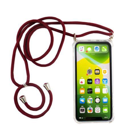 Handykette für Apple iPhone 11 Pro - Smartphone Necklace Hülle mit Band - Schnur mit Case zum umhängen in Rot