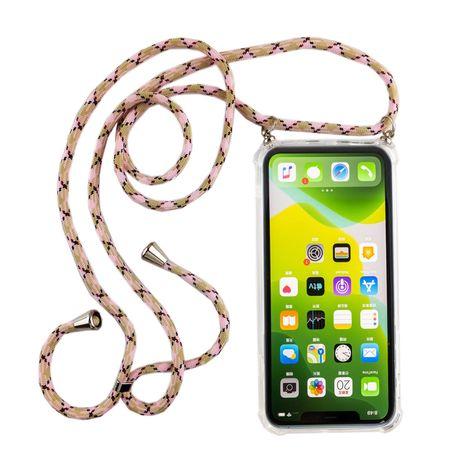 Handykette für Apple iPhone 11 - Smartphone Necklace Hülle mit Band - Schnur mit Case zum umhängen in Rosa