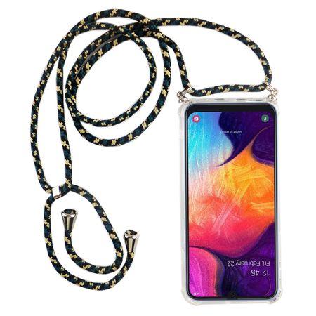 Handykette für Samsung Galaxy A50 - Smartphone Necklace Hülle mit Band - Schnur mit Case zum umhängen in Camouflage