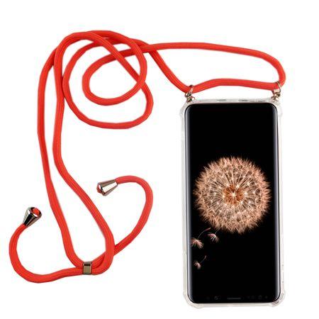 Handykette für Samsung Galaxy S9 - Smartphone Necklace Hülle mit Band - Schnur mit Case zum umhängen in Pink