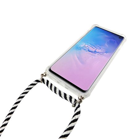 Handykette für Samsung Galaxy S10 - Smartphone Necklace Hülle mit Band - Schnur mit Case zum umhängen in Schwarz – Bild 2