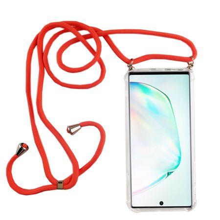 Handykette für Samsung Galaxy Note 10 Plus - Smartphone Necklace Hülle mit Band - Schnur mit Case zum umhängen in Pink