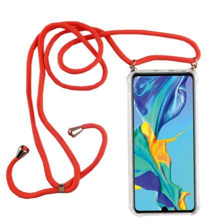 Handykette für Huawei P30 - Smartphone Necklace Hülle mit Band - Schnur mit Case zum umhängen in Pink