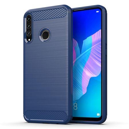 Huawei P40 Lite ETPU Case Carbon Fiber Optik Brushed Schutz HülleBlau