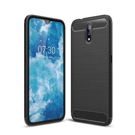Nokia 2.3TPU Case Carbon Fiber Optik Brushed Schutz HülleGrau