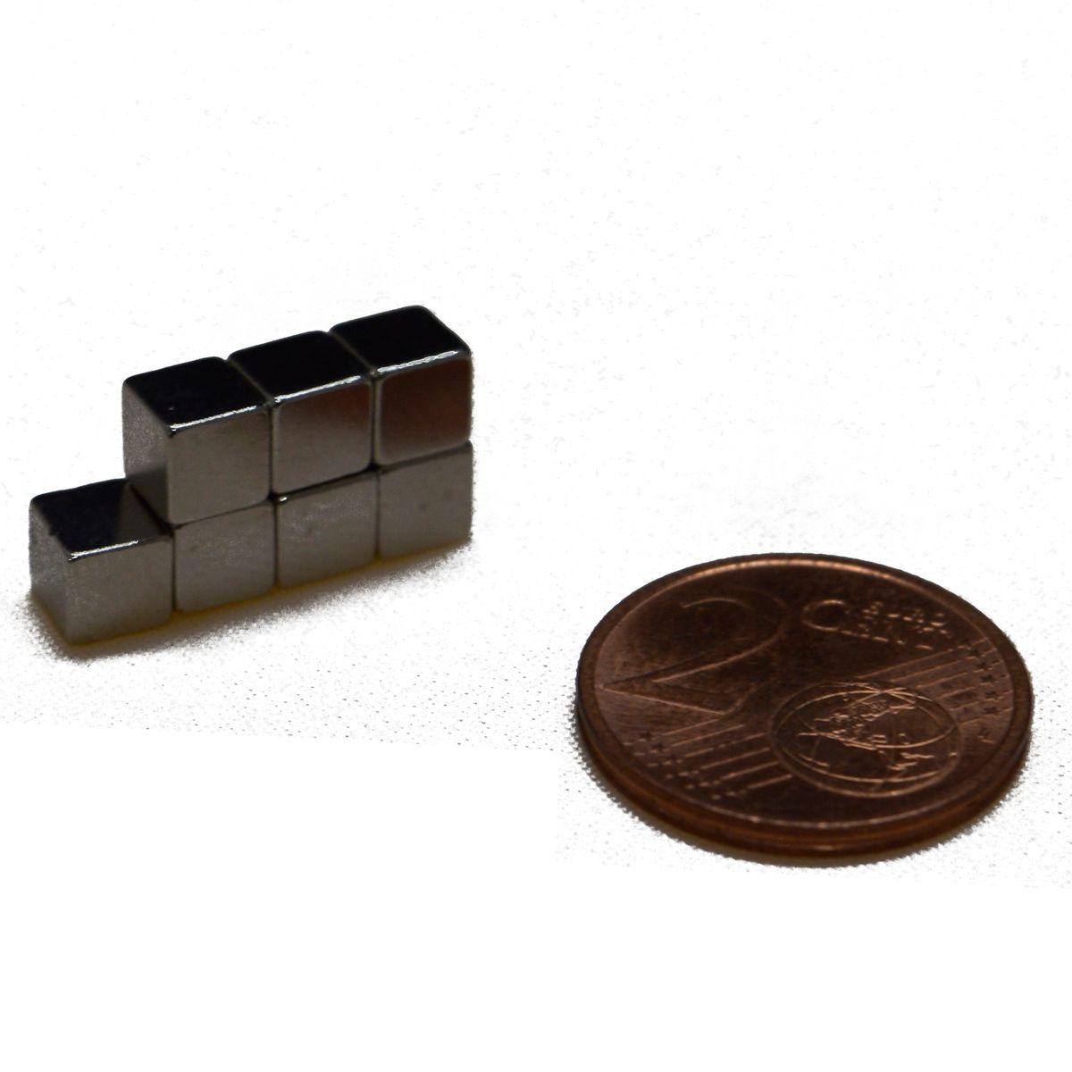 Neodym Würfel Magnete Super Magneten *Aktionspreis* Pinnwand Büro 5 x 5 x 5 mm