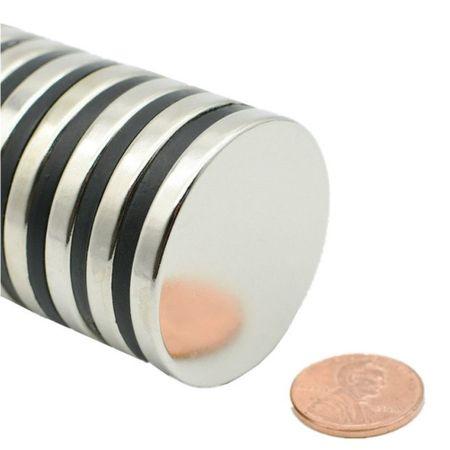 Neodym Magnet 40 x 5 mm Scheibe N35 - 100 Stück