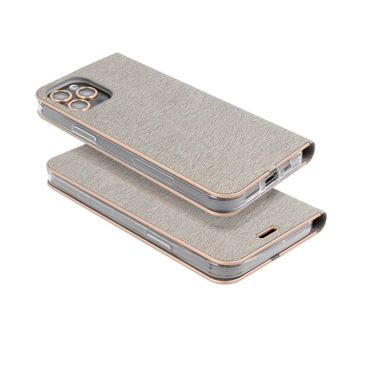 Samsung Galaxy A22 5G Handyhülle Schutztasche Wallet Cover 360 Case Etuis Silber