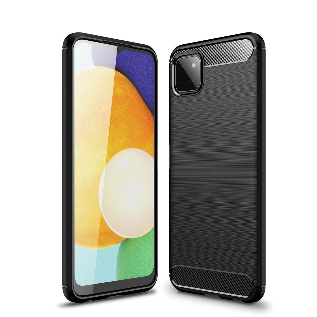 Samsung Galaxy A22 5G Handyhülle Schutzcase Backcover Schwarz