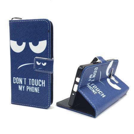 Handyhülle Tasche + 1 Panzer Schutz Glas für Handy Samsung Galaxy A5 Dont Touch my Phone