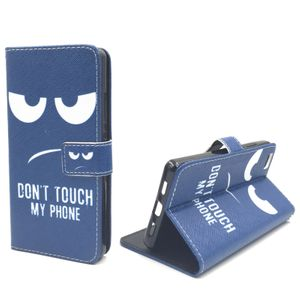 Dont Touch My Phone Handyhülle Huawei P8 Lite Panzerglas Klapphülle Wallet Case