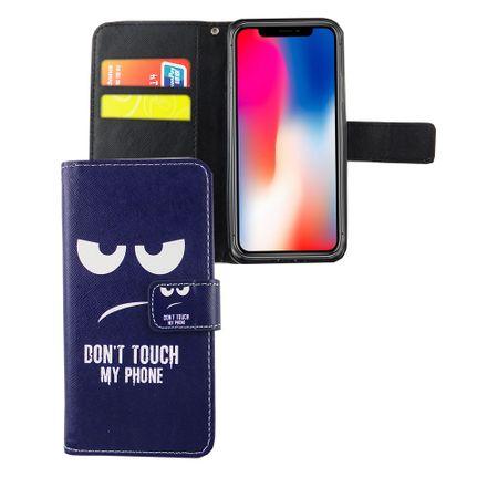 Handyhülle Tasche für Handy Apple iPhone XS Dont Touch my Phone