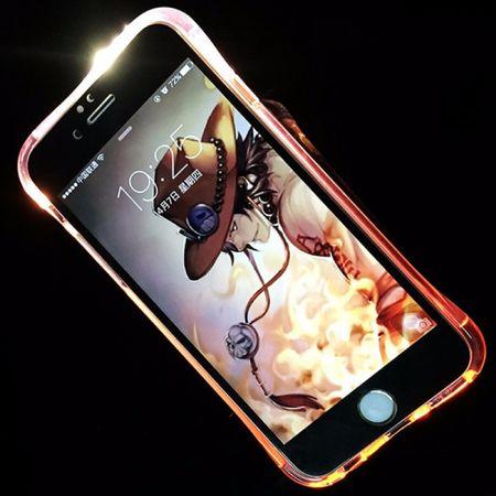 Handy Hülle LED Licht bei Anruf für Handy Apple iPhone XS Pink