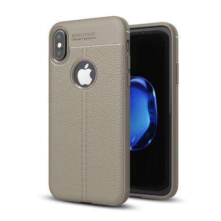 Handy Hülle Schutz Case für Apple iPhone XS Cover Rahmen Etui Grau