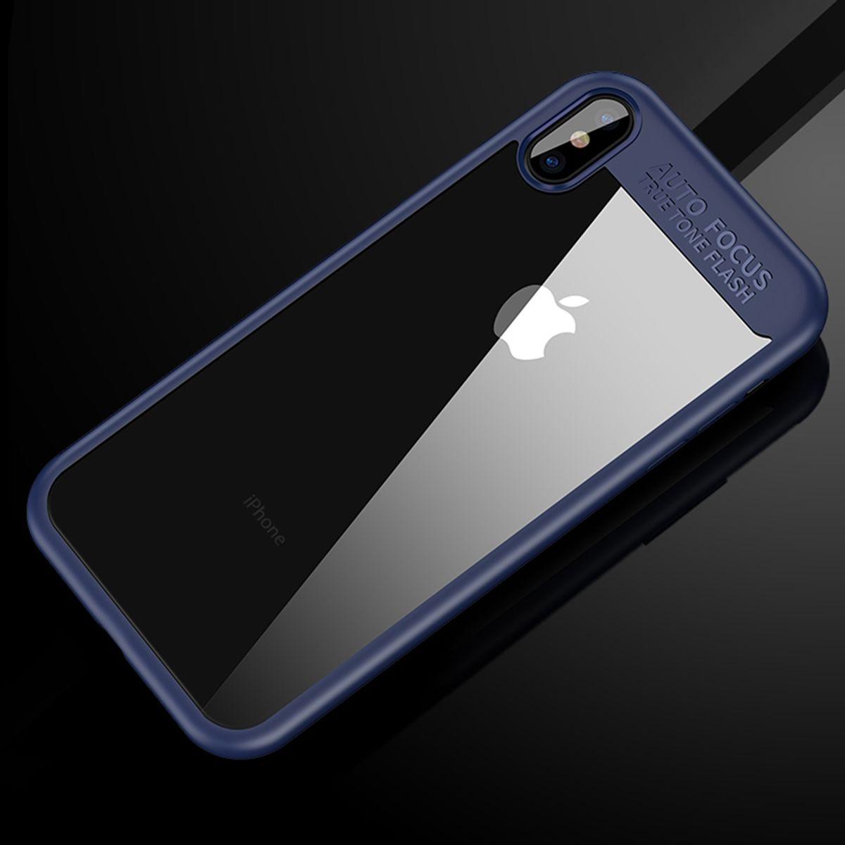 Ultra Slim Case für Apple iPhone XS Handyhülle Schutz Cover Blau
