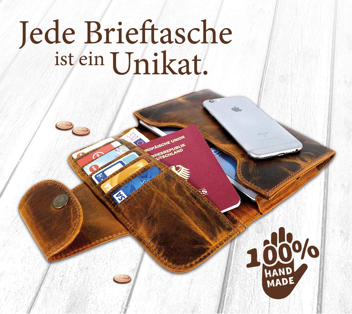 Leder Reise Organizer für Reisepass & Tickets - Travel Wallet für iPad Mini