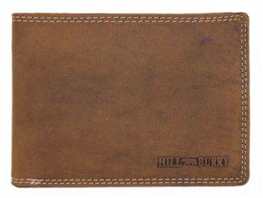 Hill Burry Büffel LEDER Geldbörse Portmonnaie Kreditkartenetui Brieftasche 8003DBR