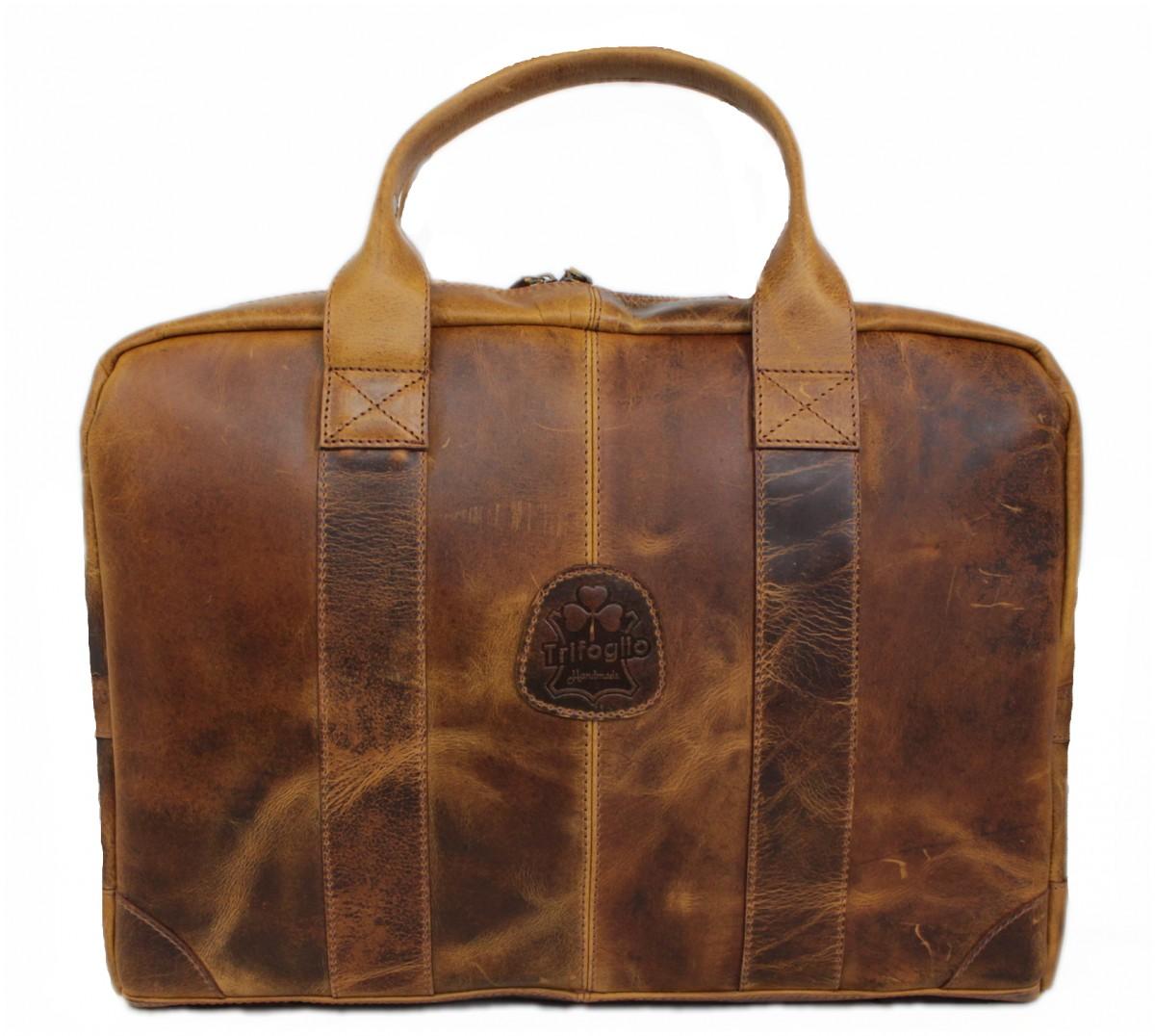 116c3bfe5344c Damen Schultertasche Echt Leder Laptop Tasche 15