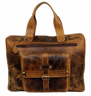 Damen Echt Leder Schultertasche Aktentasche Laptop Henkeltasche Tasche groß 34A