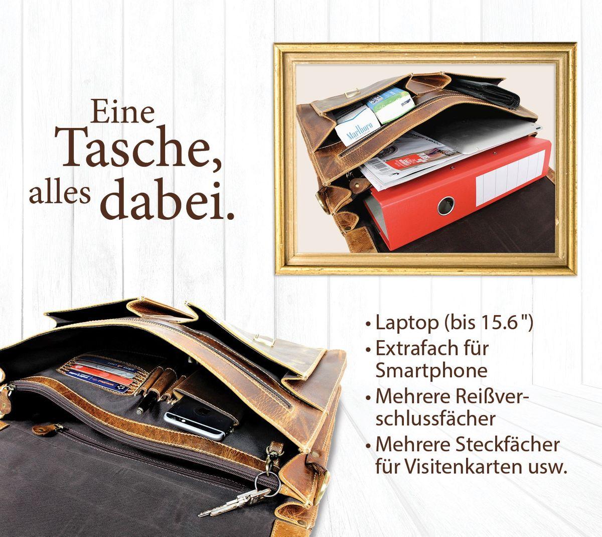 Beige mit Braun BOSTANTEN Damen Aktentasche Echt Leder Laptoptasche 15,6 Zoll Gro/ß Arbeitstasche Businesstasche/Henkeltasche f/ür Frauen
