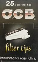 OCB Filter Tip, 1,8 cm x 6,0 cm, 25 x 50 Blättchen BOX (VE)