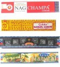 4 er Räucherstäbchen Set - Golden Nag Champa, Goloka, Super Hit, Natural - Räucherware 61g