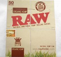 50 x 32 RAW Organic Hemp Natural Unrefined Hemp Rolling Papers BOX