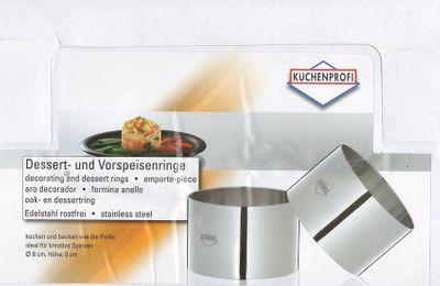 KÜCHENPROFI Set Dessert- Vorspeisenringe gross 1 Stück