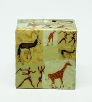Swazi Kerze Buck Giraffe quadratisch 001