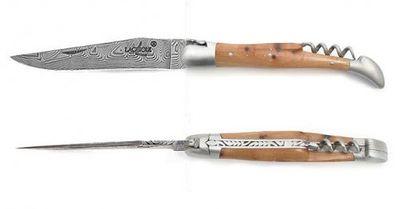 LUXE Wacholder Inox-Damast Korkenzieher 12 cm