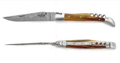 LUXE Pistazie Inox-Damast Korkenzieher 12 cm