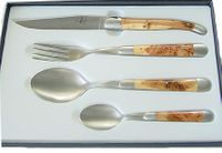Forge de Laguiole Cutlery Set 4-pieces Juniper INOX
