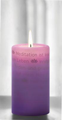 WORTlicht Kerze Leuchtende Gedanken zur Meditation – Bild 1