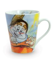 "EGAN Disney BECHER Die 7 Zwerge ZWERG ""HAPPY"" 001"