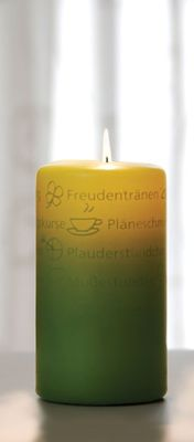 WORTlicht Kerze Gute Wünsche