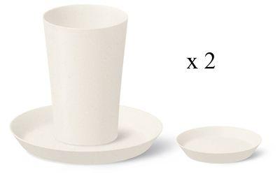 Bambus Kaffee- und Tee Set 6-teilig, natural – Bild 1