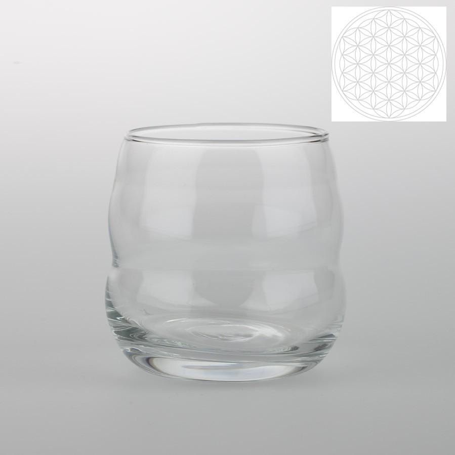 Glas Mythos mit weiser Blume des Lebens TISCH & TAFEL GLAS