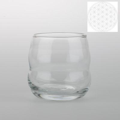 Glas Mythos mit weiser Blume des Lebens
