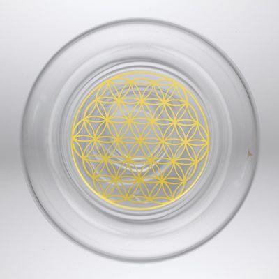 Karaffe Golden Alladin mit goldener Blume des Lebens + 2 Gläsern Mythos Gold – Bild 2