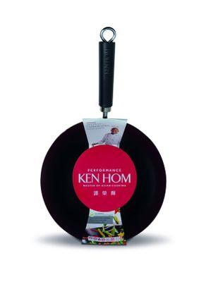 Ken Hom Performance Wok, 28 cm, Anithaft Karbonstahl