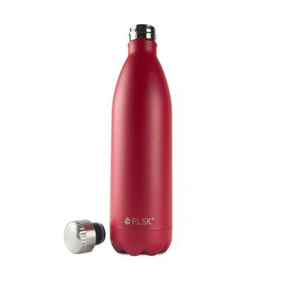 FLSK Vakuum Isolierflasche 1000 ml bordeaux rot – Bild 2